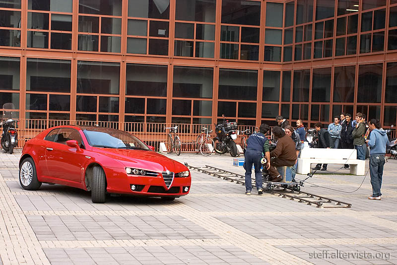 New Alfa Romeo - movie set