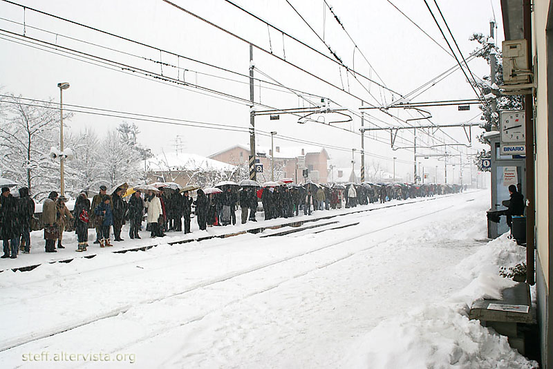 It snows... therefore we got no trains